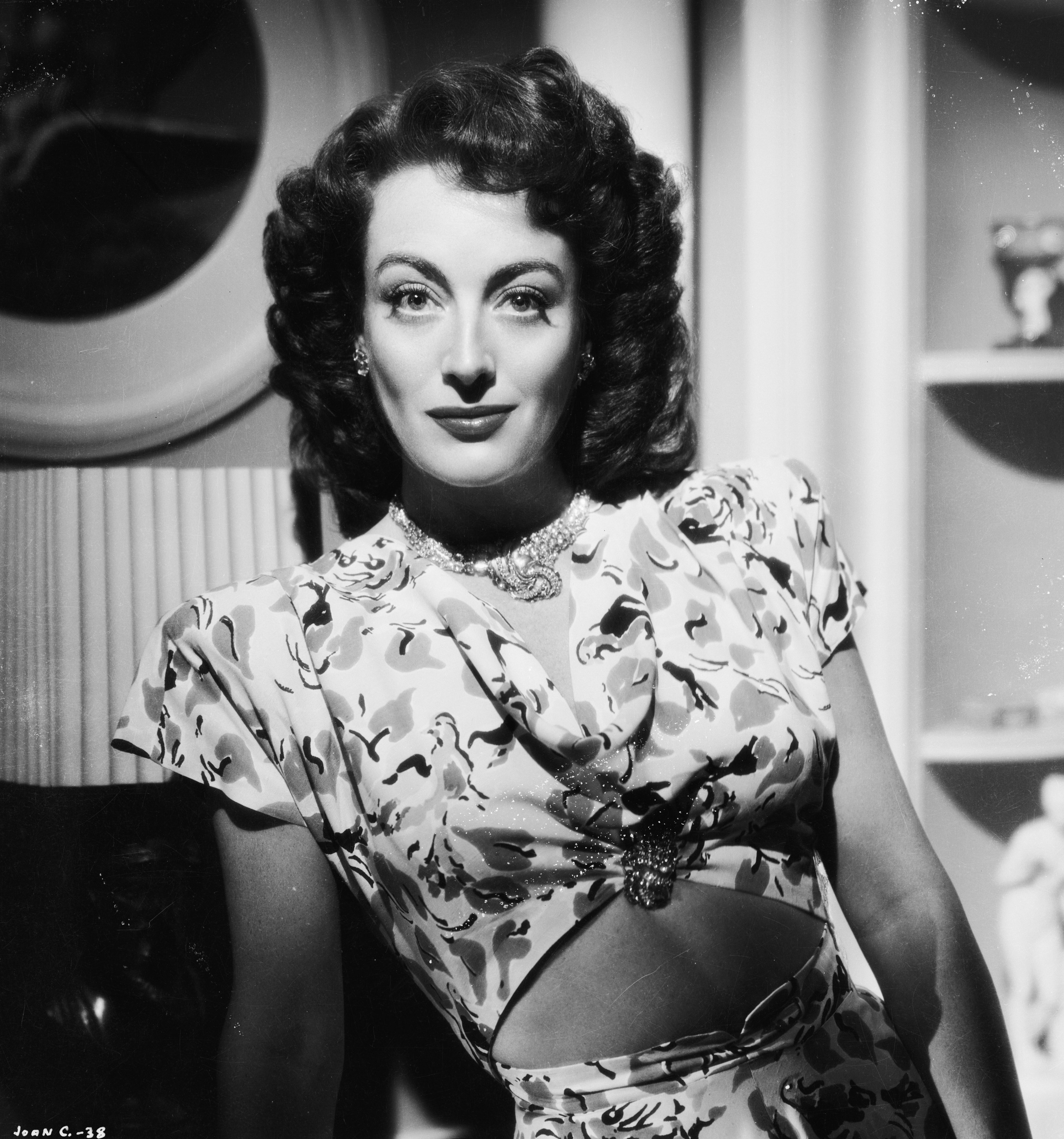 American film actress Joan Crawford (1908 - 1977) in her  starring role in 'Mildred Pierce', circa 1944:  Source: Getty Images