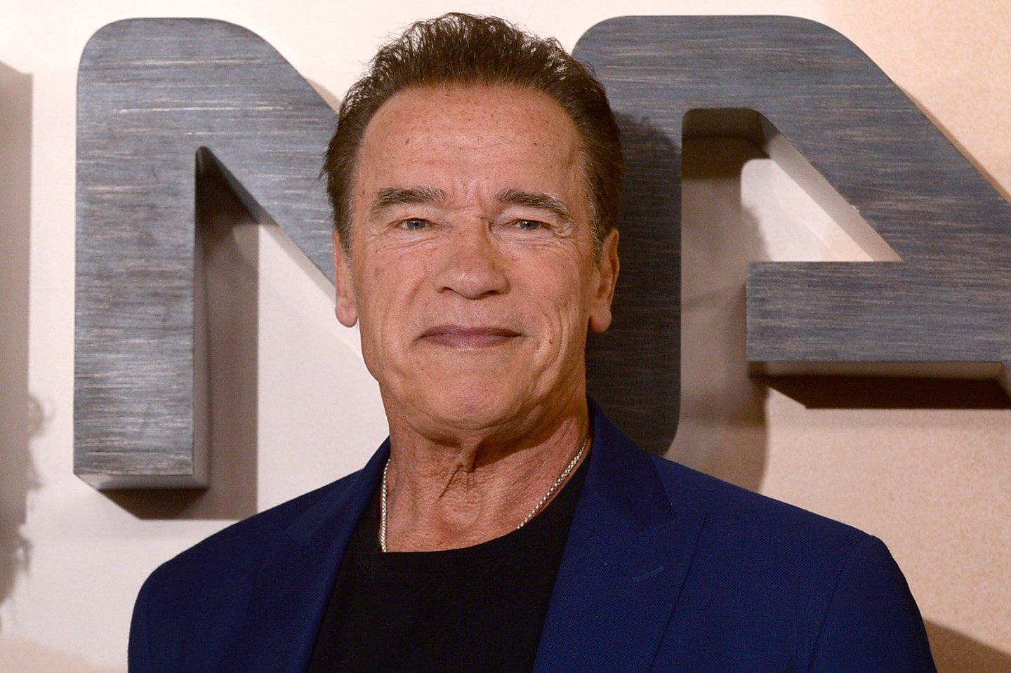 """Arnold Schwarzenegger attends the """"Terminator: Dark Fate"""" photocall on October 17, 2019 in London, England 