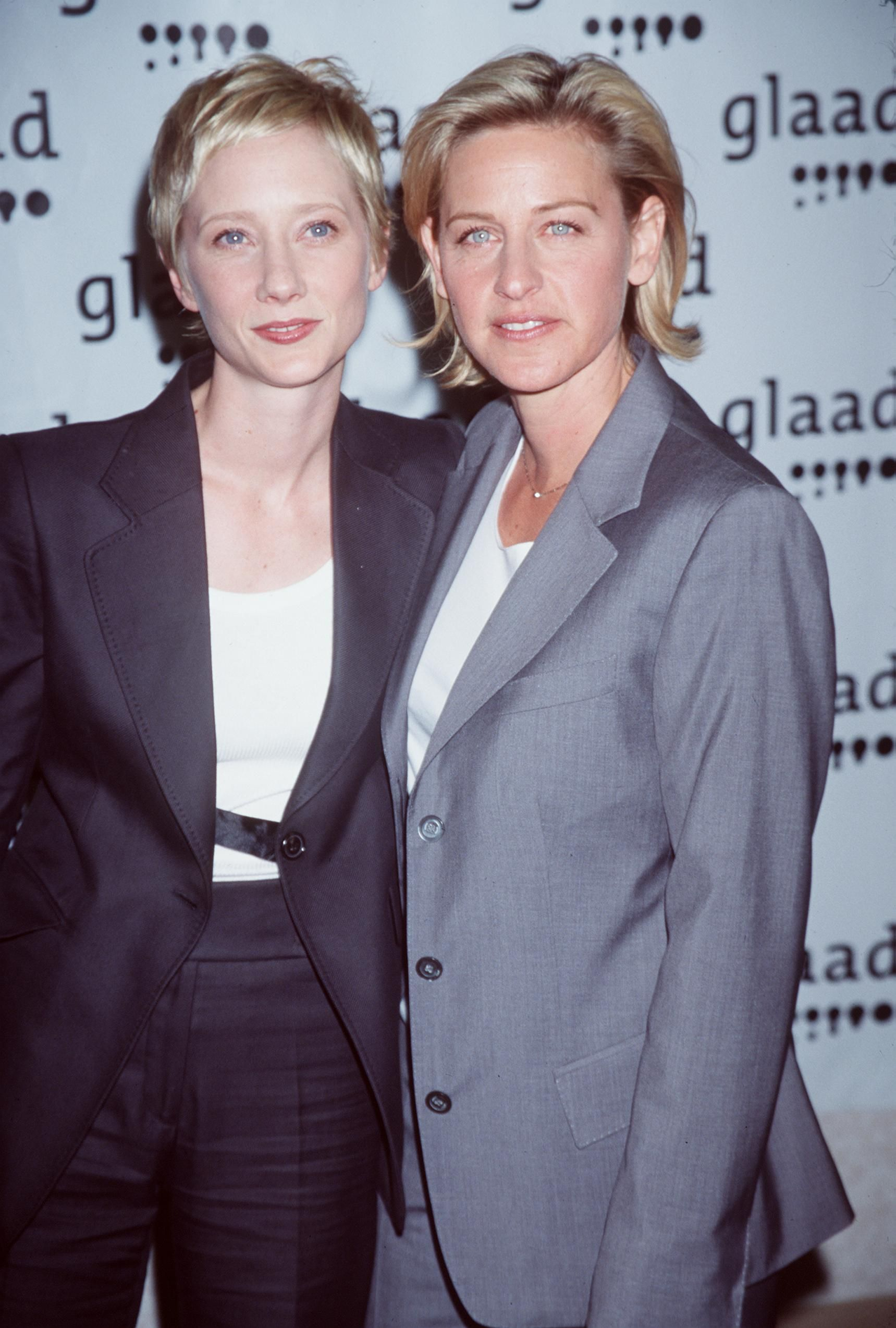Anne Heche and Ellen DeGeneres at the 10th Annual GLAAD Media Awards Gala in 1999