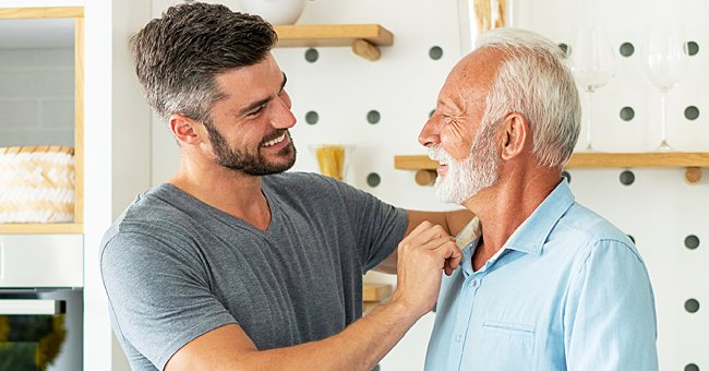 A photo of a man and his grandfather.   Photo: Shutterstock