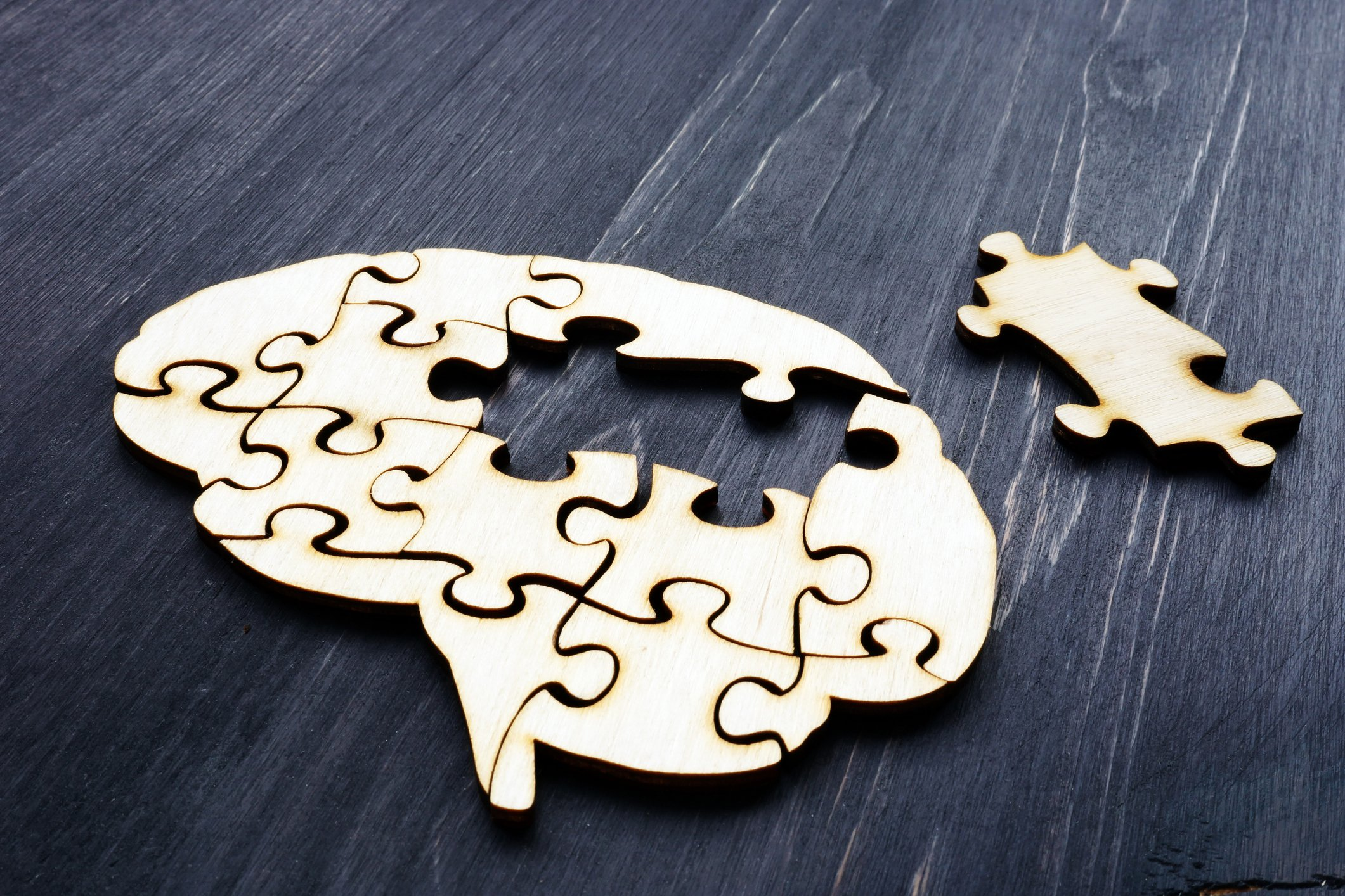Gehirn aus Holzpuzzle. I Source: Getty Images