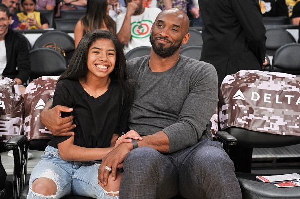 Kobe Bryant and Gianna Bryant at a basketball game in Los Angeles, California.| Photo: Getty Images.