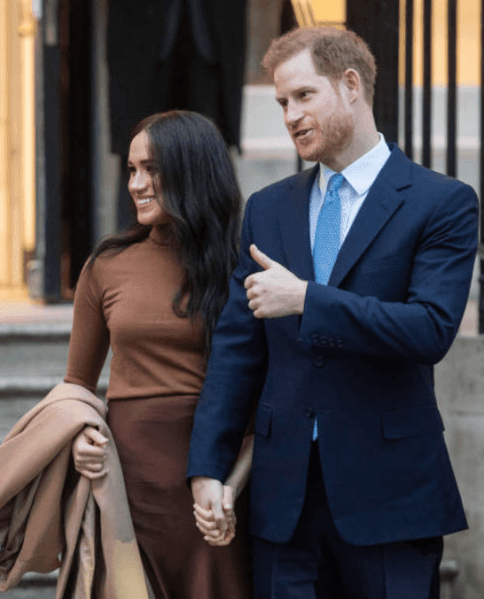 Prince Harry and Meghan Markle greet crowds as they leave Canada House on January 07, 2020 in London, England | Source: Getty Images (Photo by Samir Hussein/WireImage)