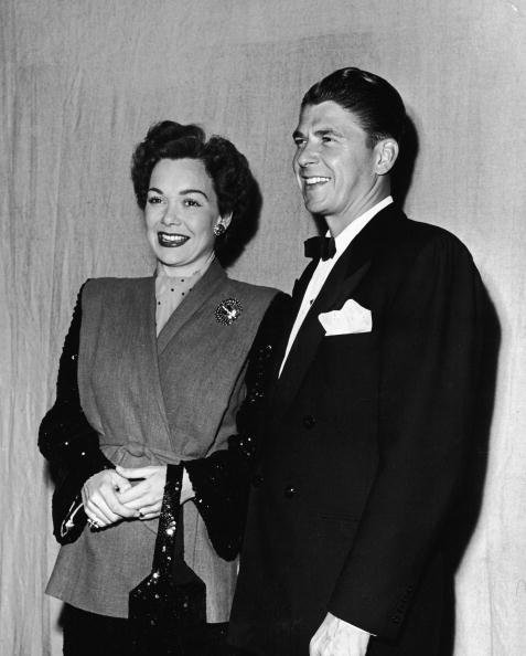 Ronald Reagan and Jane Wyman in Los Angeles, California on March 13, 1947. | Photo: Getty