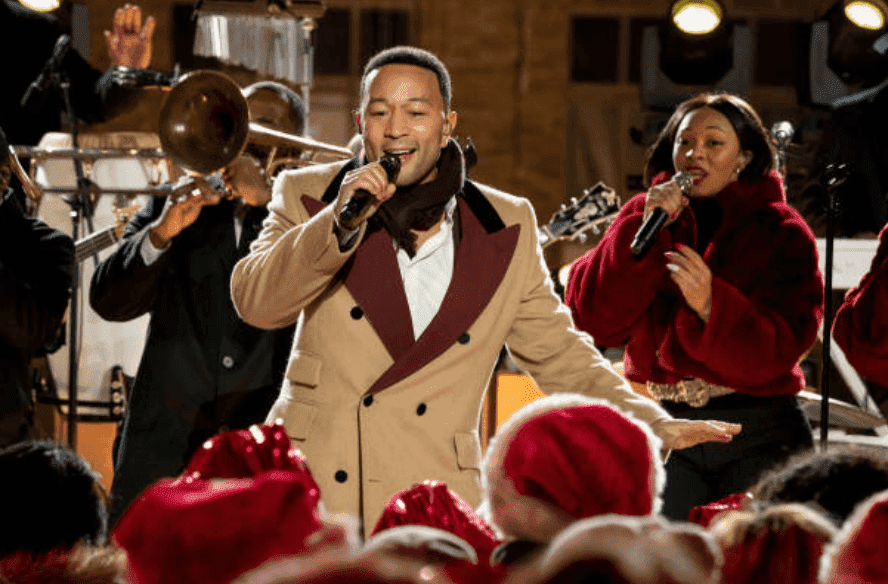 John Legend rehearses with a live band for the 2019 Christmas in Rockefeller Center, on November 24, 2019, New York | Source: Virginia Sherwood/NBC/NBCU Photo Bank via Getty Images