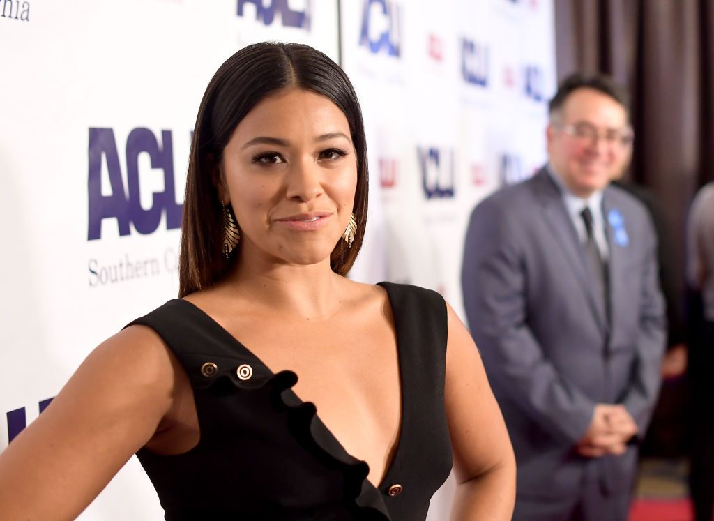 Gina Rodriguez at ACLU SoCal Hosts Annual Bill of Rights Dinner at the Beverly Wilshire Four Seasons Hotel on December 3, 2017   Photo: Getty Images