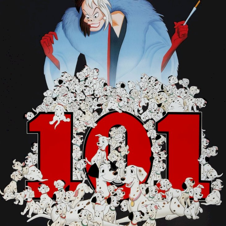 101 Dalmatians, poster, (aka ONE HUNDRED AND ONE DALMATIANS), US reissue poster art, 1961. (Photo by LMPC via Getty Images)