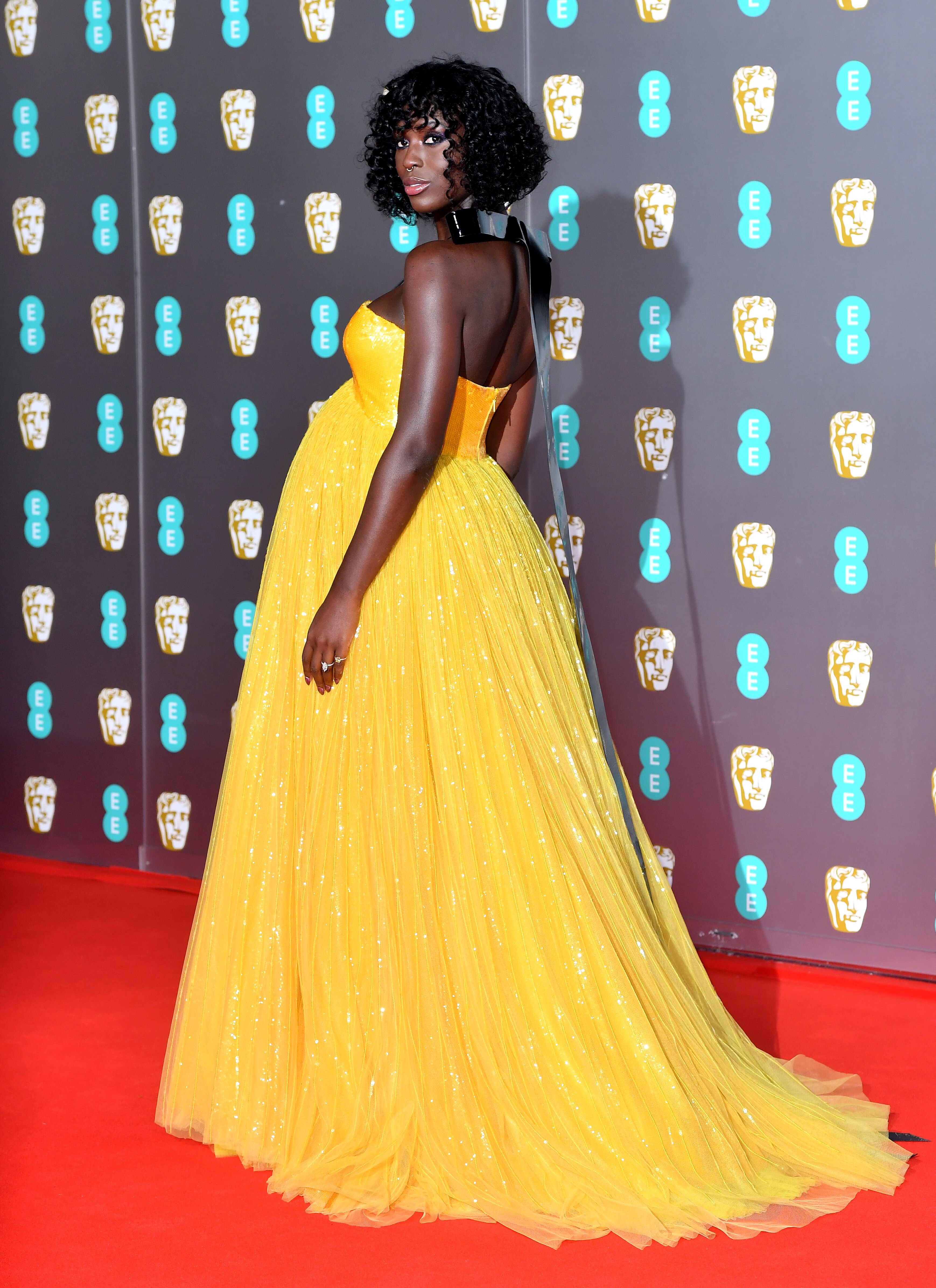 Jodie Turner-Smith attending the 73rd British Academy Film Awards held at the Royal Albert Hall, London. | Source: Getty Images