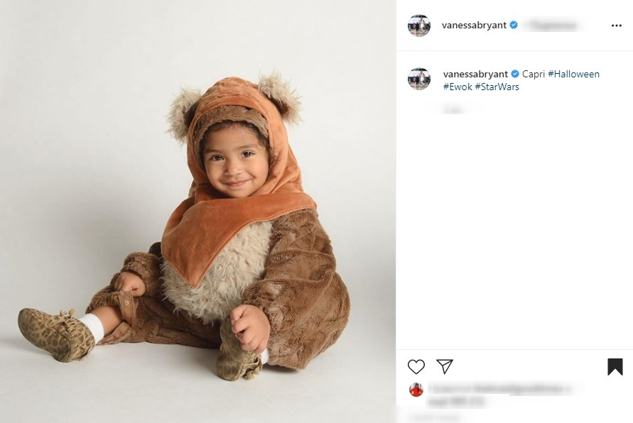 Screenshot of Vanessa Bryant's Instagram post, featuring Capri in a Halloween costume. | Source: Instagram.VanessaBryant