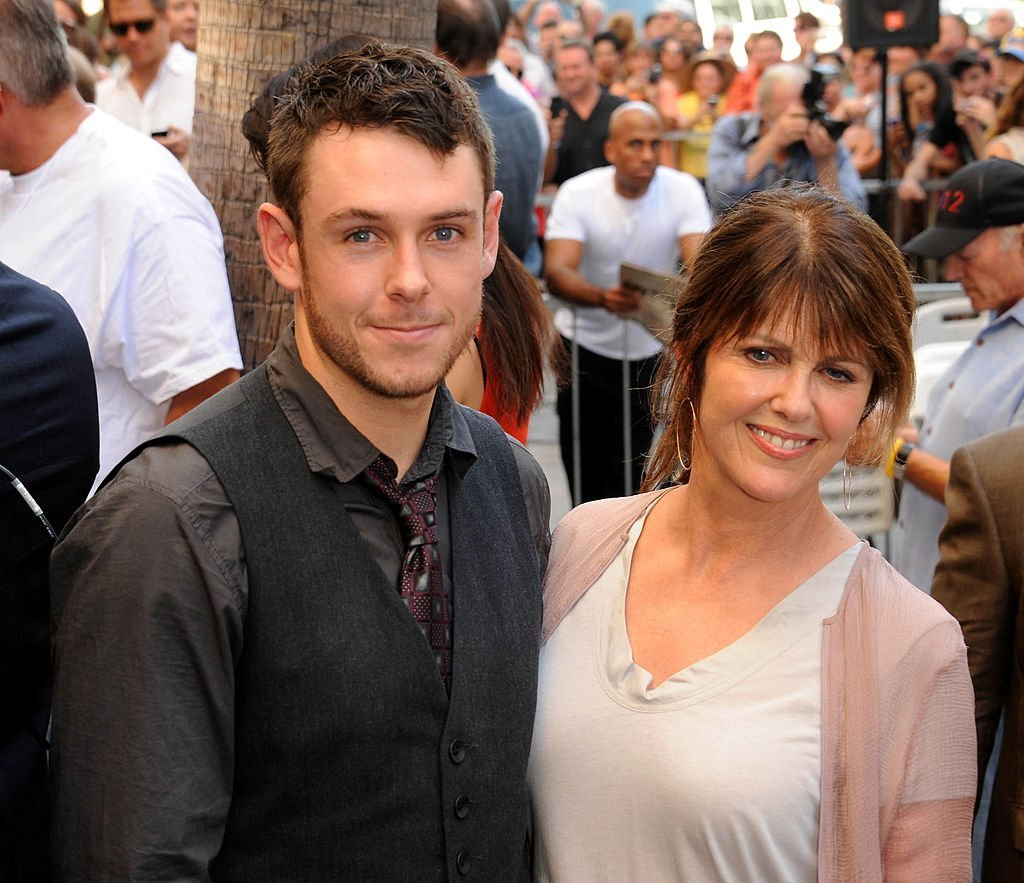 Actress Pam Dawber and son Sean Harmon participate in the Mark Harmon star ceremony on the Hollywood Walk of Fame. | Source: Getty Images