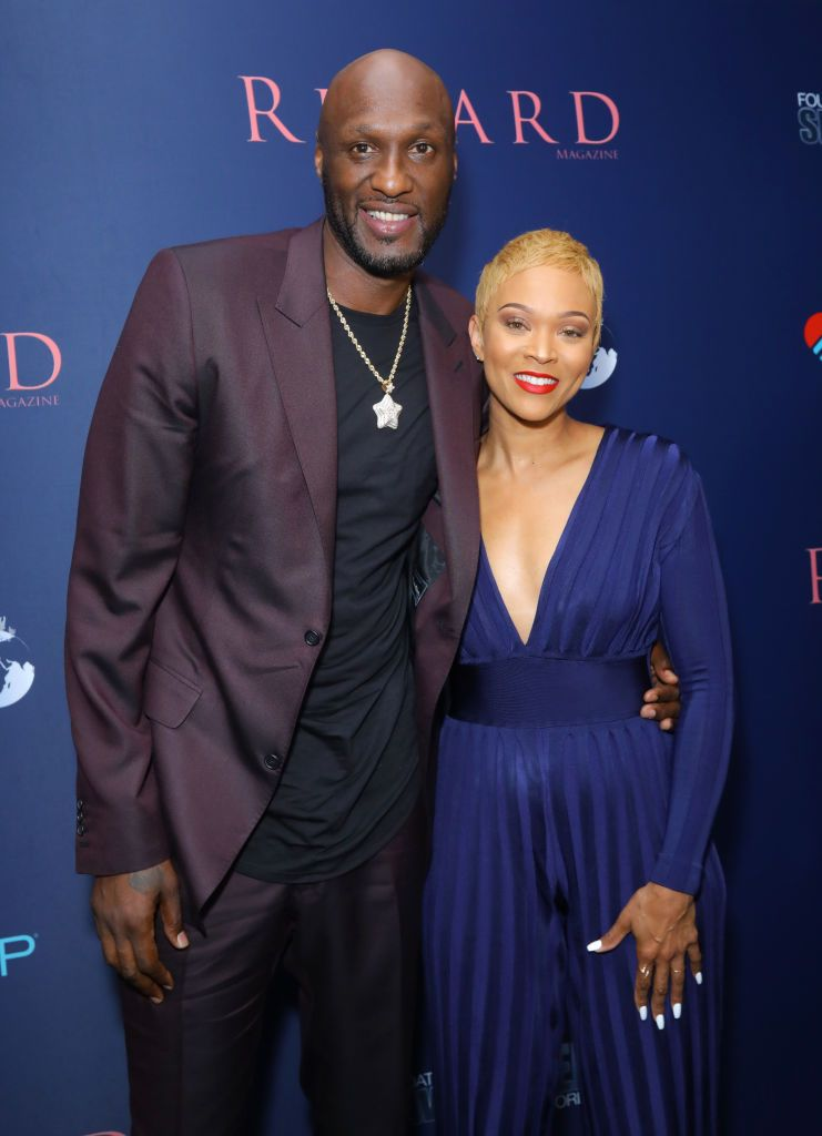 """Lamar Odom and Sabrina Parr during the """"Regard Cares"""" event to celebrate its fall issue featuring Marisol Nichols at Palihouse West Hollywood on October 02, 2019 in West Hollywood, California. 