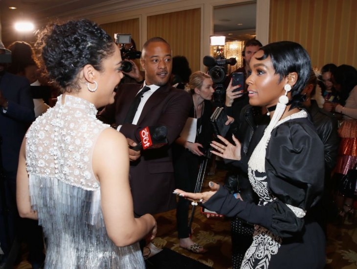 Janelle Monae and Tessa Thompson attend a red carpet event together | Source: Getty Images/GlobalImagesUkraine