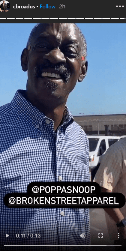 A picture of Snoop Dog's dad, Vernell Varnado smiling at the camera | Photo: Instagram/cbroadus