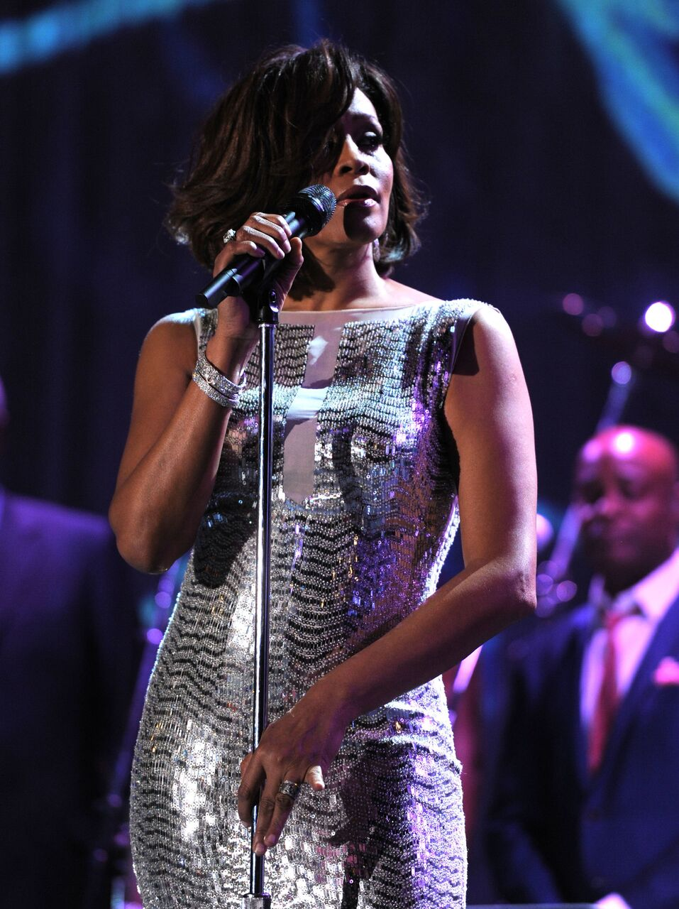 Whitney Houston performs onstage at the 2011 Pre-GRAMMY Gala and Salute To Industry Icons. | Source: Getty Images