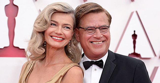 Paulina Porizkova & Aaron Sorkin Sparks Dating Rumors as They Attend Oscars Red Carpet Together