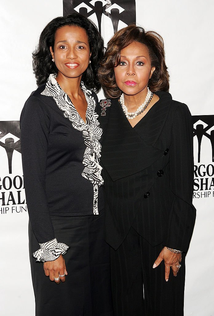 Actress Diahann Carroll (R) and her daughter Suzanne Kay arrive at the Thurgood Marshall Scholarship Funds annual dinner at the Sheraton New York Hotel   Photo: Getty Images