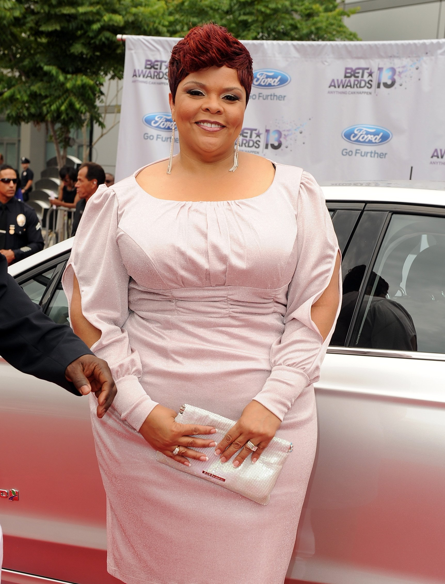 Tamela Mann attends the Ford Red Carpet at the 2013 BET Awards at Nokia Theatre L.A. Live on June 30, 2013. | Photo: Getty Images