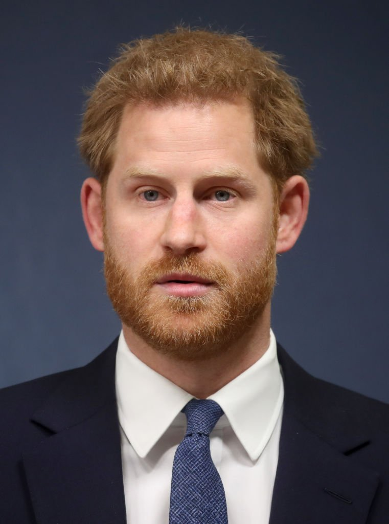 "Prince Harry, Duke of Sussex makes a speech as he attends the Chatham House Africa Programme event on ""Mine, Clearance, Conservation and Economic Development in Angola"" at Chatham House 