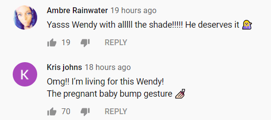 Screenshot of fan reactions to Wendy Williams' revelation | Photo: YouTube/The Wendy Williams Show