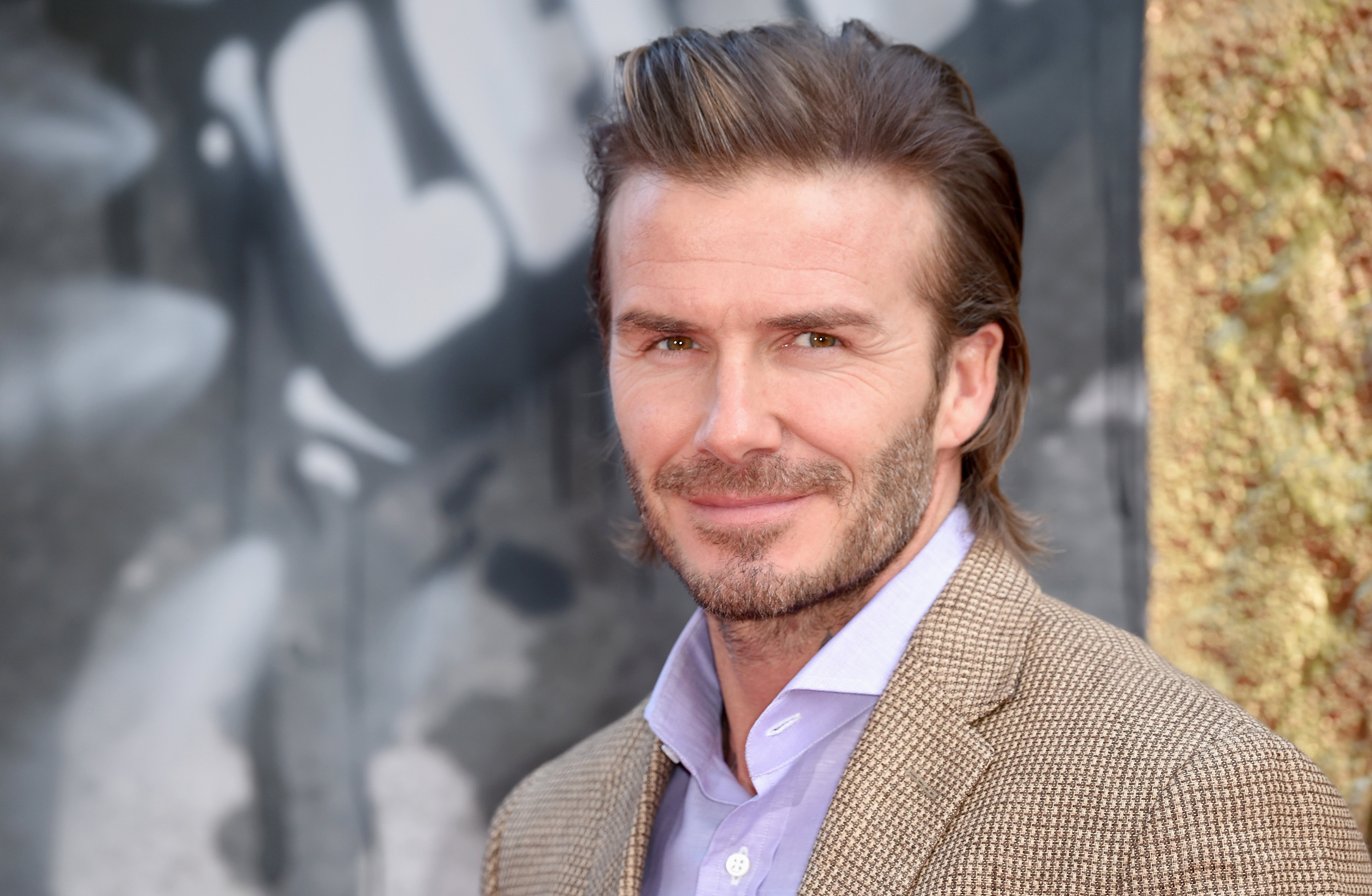 """David Beckham attends the """"King Arthur: Legend of the Sword"""" European premiere on May 10, 2017, in London, United Kingdom.   Source: Getty Images."""