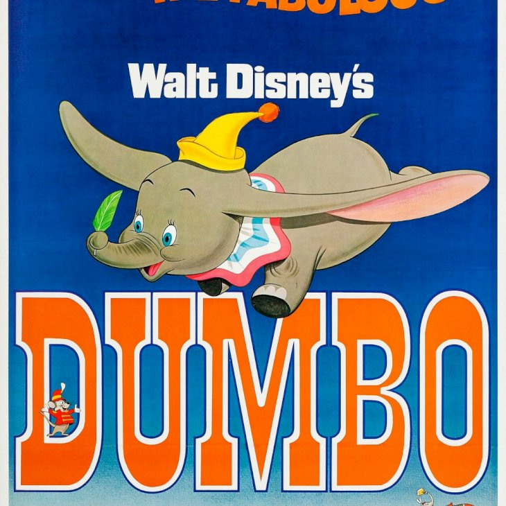 Dumbo, poster, US poster art, the elephant, 1941. (Photo by LMPC via Getty Images)
