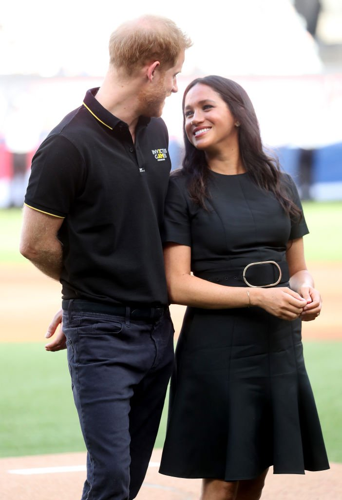 Prince Harry and Meghan at the baseball game in London's Stadium on June 29 | Photo: Getty Images
