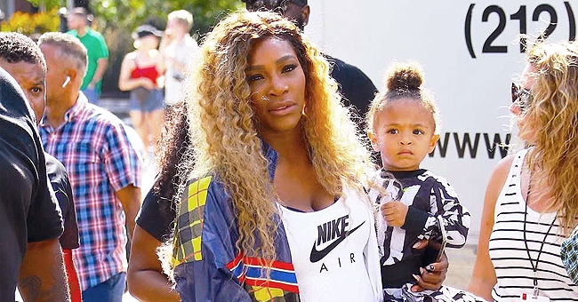 Serena Williams Holds Her Daughter Olympia as They Attend Nike's 'Queens of the Future' Event