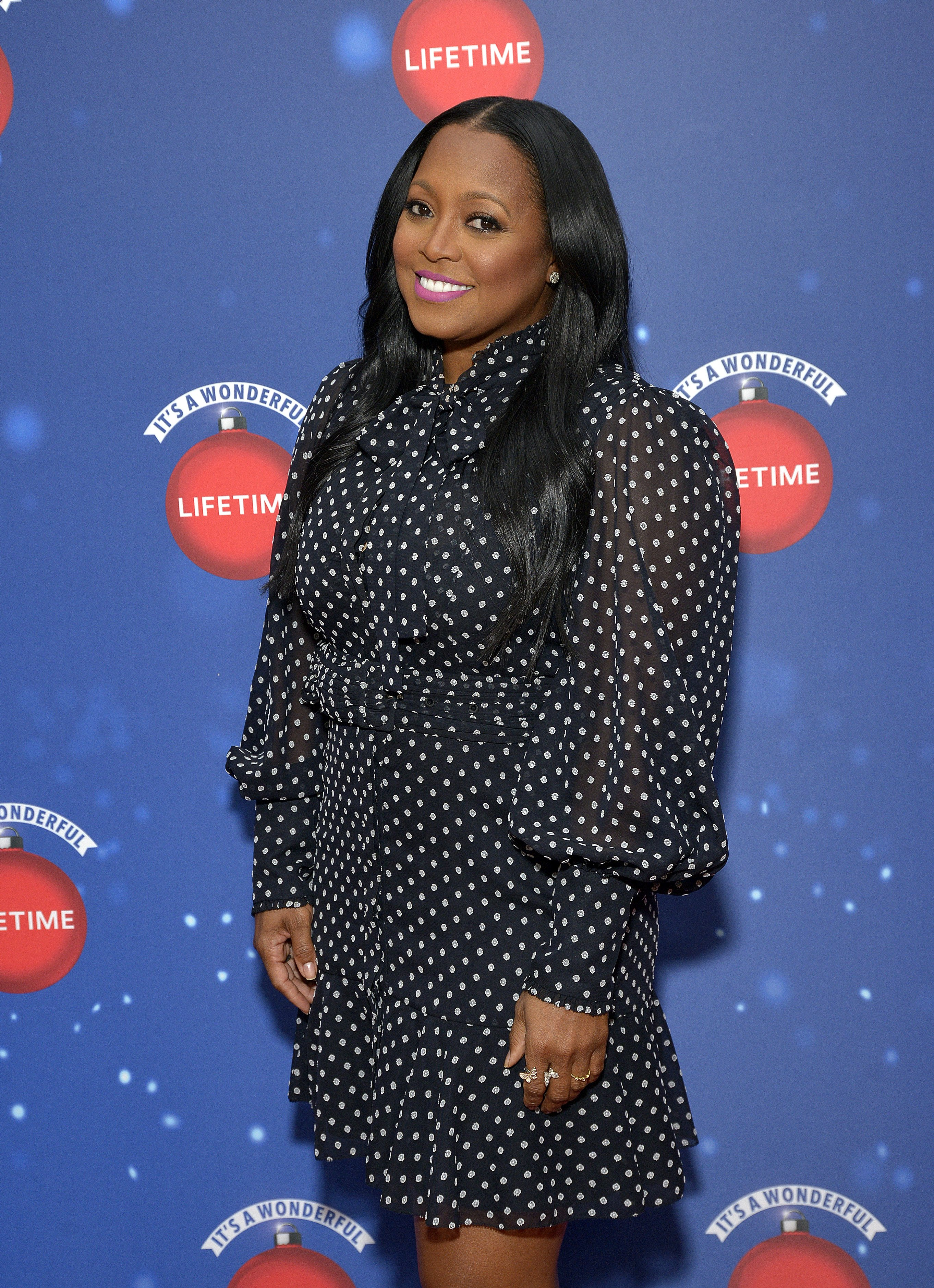 """Keshia Knight Pulliam attends the """"Say Santa"""" event at Glendale Galleria in Glendale, California on November 9, 2019. 