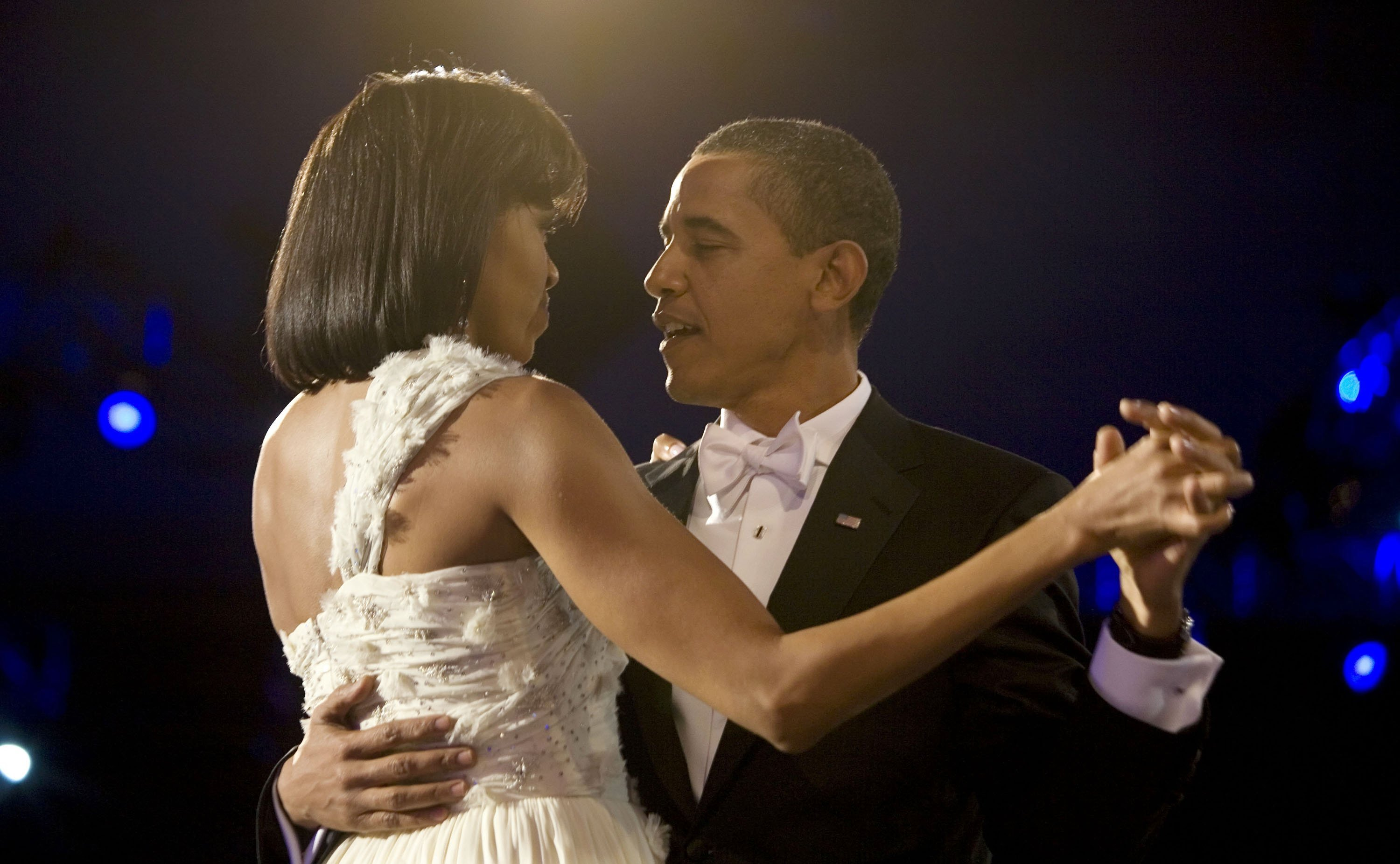 Michelle Obama & Barack Obama dancing at an inaugural gala on Jan. 20, 2009 in Washington, DC   Photo: Getty Images