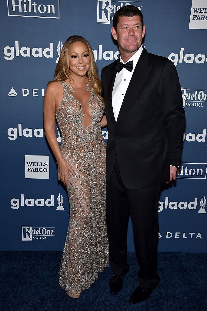 Mariah Carey (L) and James Packer attend the 27th Annual GLAAD Media Awards in New York on May 14, 2016, in New York City. | Source: Getty Images.