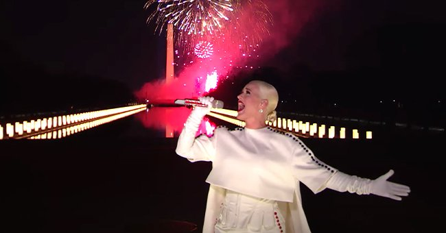 Katy Perry Wows in a White Gown Closing Inauguration With a Stunning Performance of 'Firework'