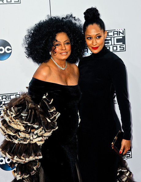 Diana Ross and Tracee Ellis Ross at Nokia Theatre L.A. Live on November 23, 2014 in Los Angeles, California.   Photo: Getty Images