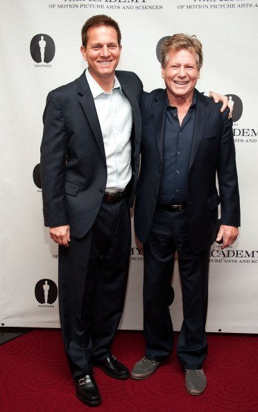 Patrick O'Neal and Ryan O'Neal attend The Academy of Motion Picture Arts and Sciences' Salute to Stanley Kubrick at AMPAS Samuel Goldwyn Theater on November 7, 2012, in Beverly Hills, California. | Source: Getty Images.