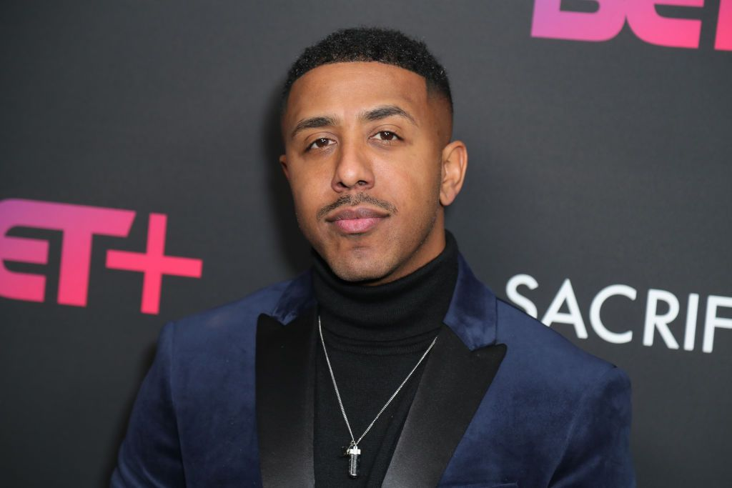 """Marques Houston at BET+ and Footage Film's """"Sacrifice"""" premiere event at Landmark Theatre on December 11, 2019 