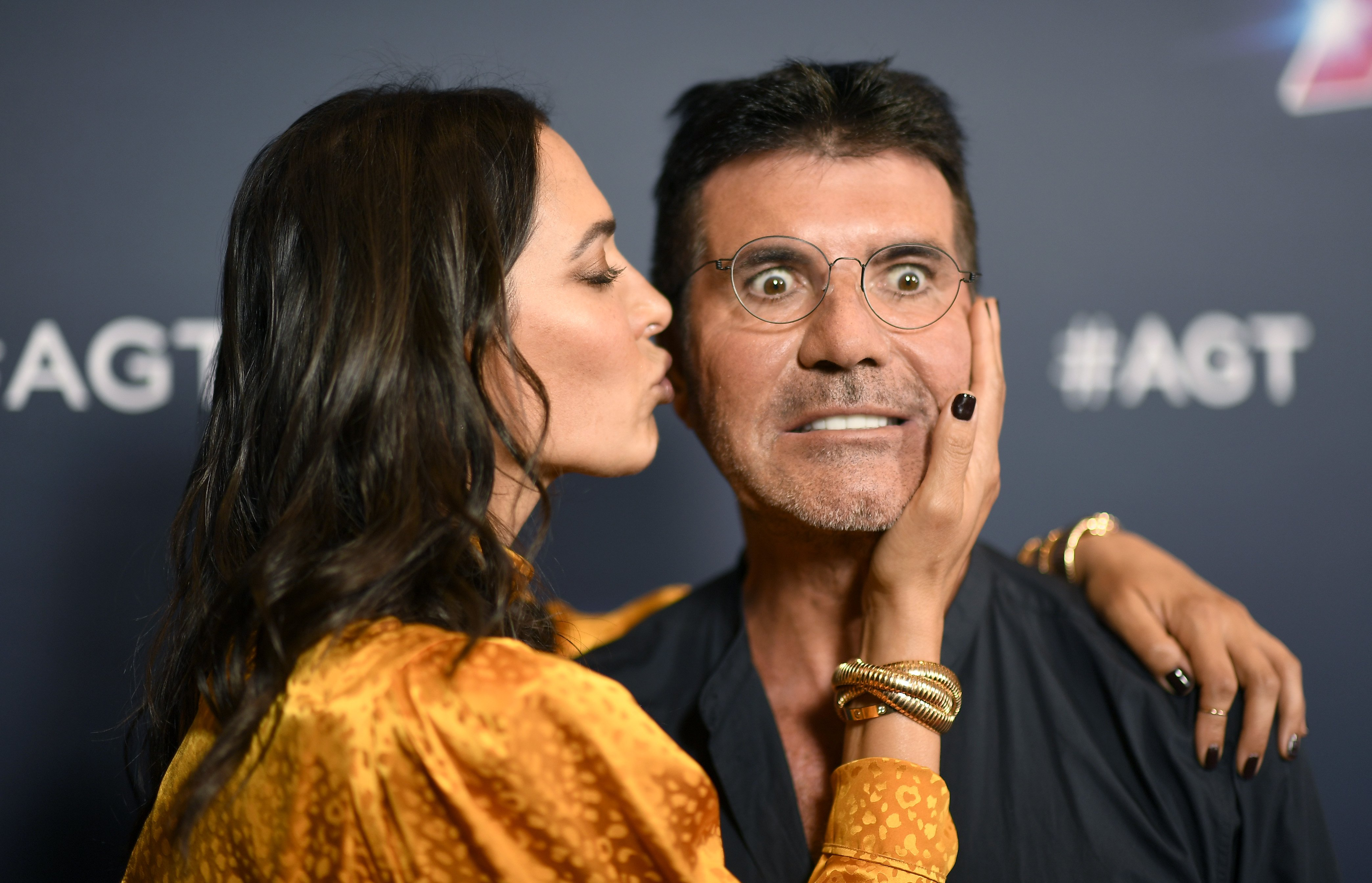 """Lauren Silverman and Simon Cowell attends Red Carpet for """"America's Got Talent"""" in Hollywood on September 17, 2019 