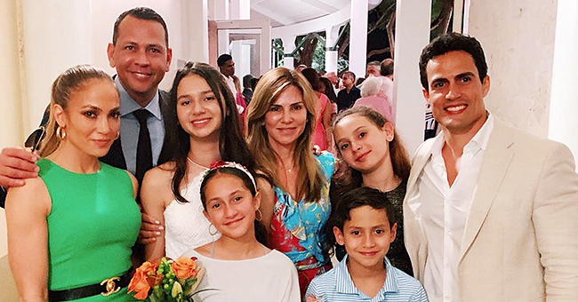 Alex Rodriguez Poses with Ex-Wife Cynthia & Jennifer Lopez at Daughter's Graduation