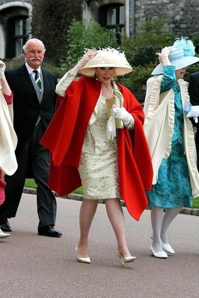 Joan Rivers during The Royal Wedding of HRH Prince Charles and Mrs. Camilla Parker Bowles | Image: Getty Images