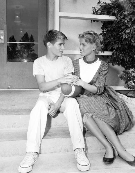 "Don Grady, and Marta Kristen on the set of ""Spring Will Be a Little Late"" on 12/8/60 