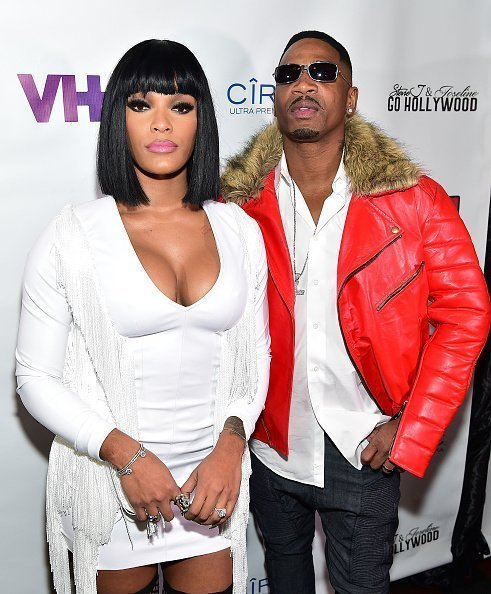 "Joseline Hernandez and Stevie J at the advanced screening of ""Stevie J & Joseline Go Hollywood"" in January 2016 
