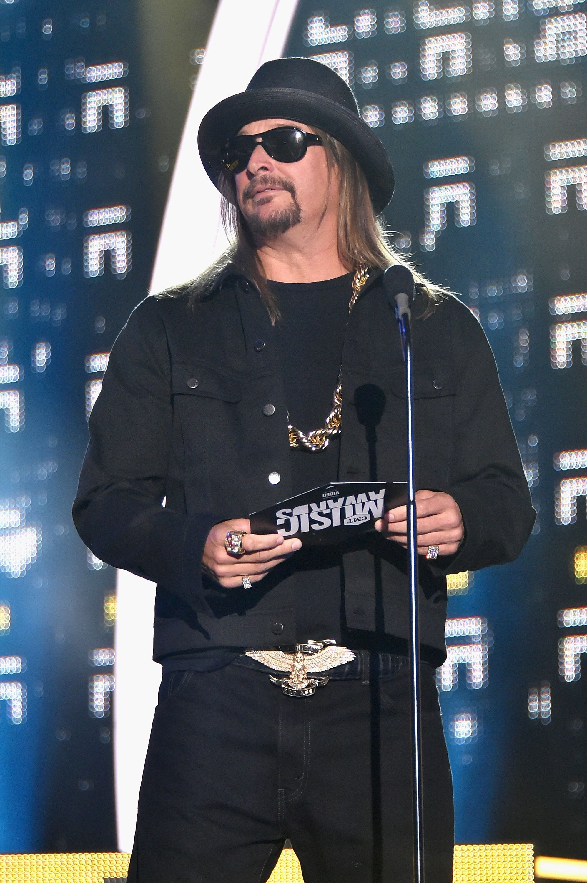 Kid Rock on stage at the Musica Awards. Image credit: Getty Images/GlobalImagesUkraine