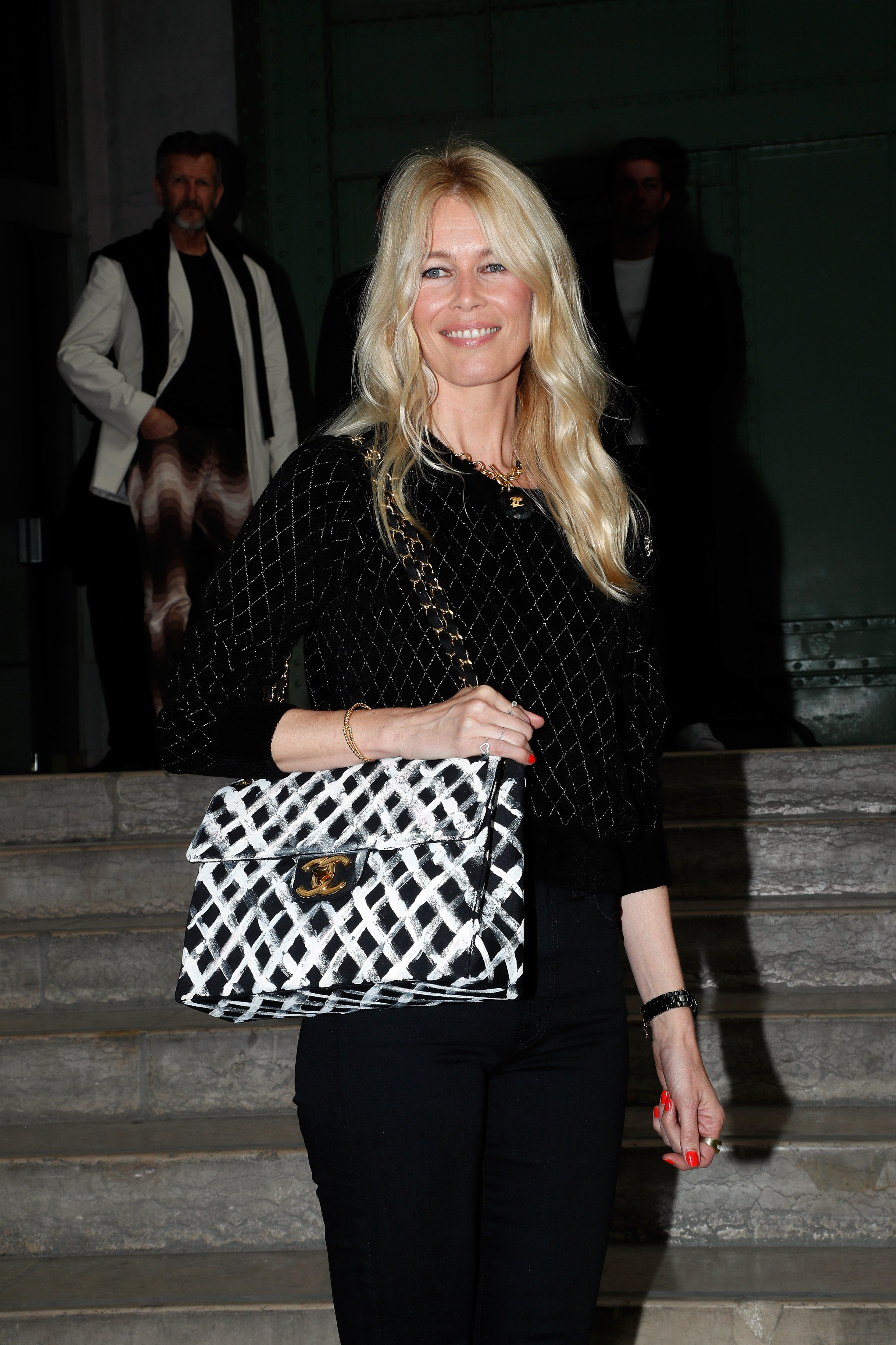"""Claudia Schiffer attends the """"Karl For Ever"""" tribute to Karl Lagerfield in Paris, France on June 20, 2019. 