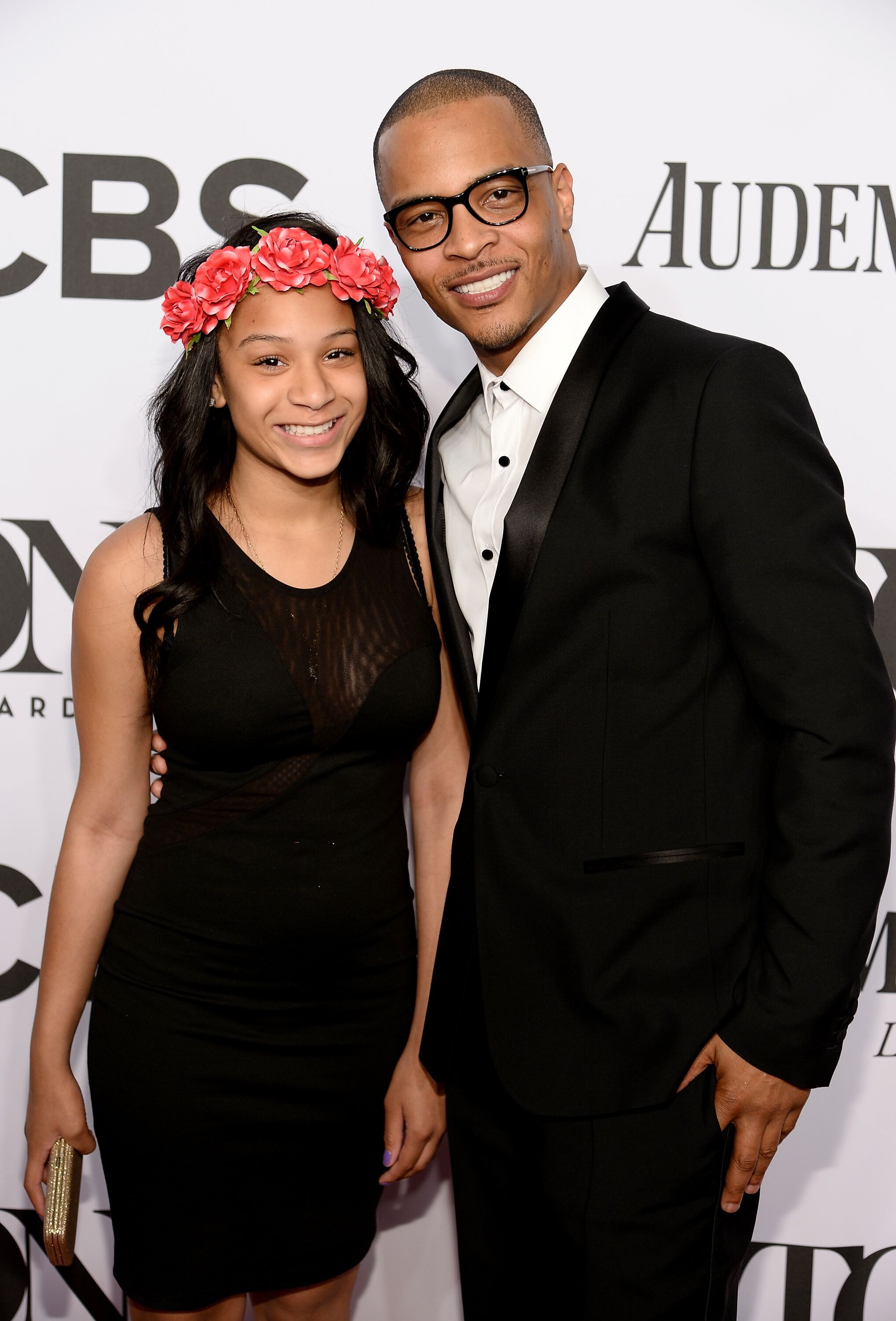 "Rapper Tip ""T.I."" Harris and daughter Deyjah Harris at a CBS event/ Source: Getty Images"