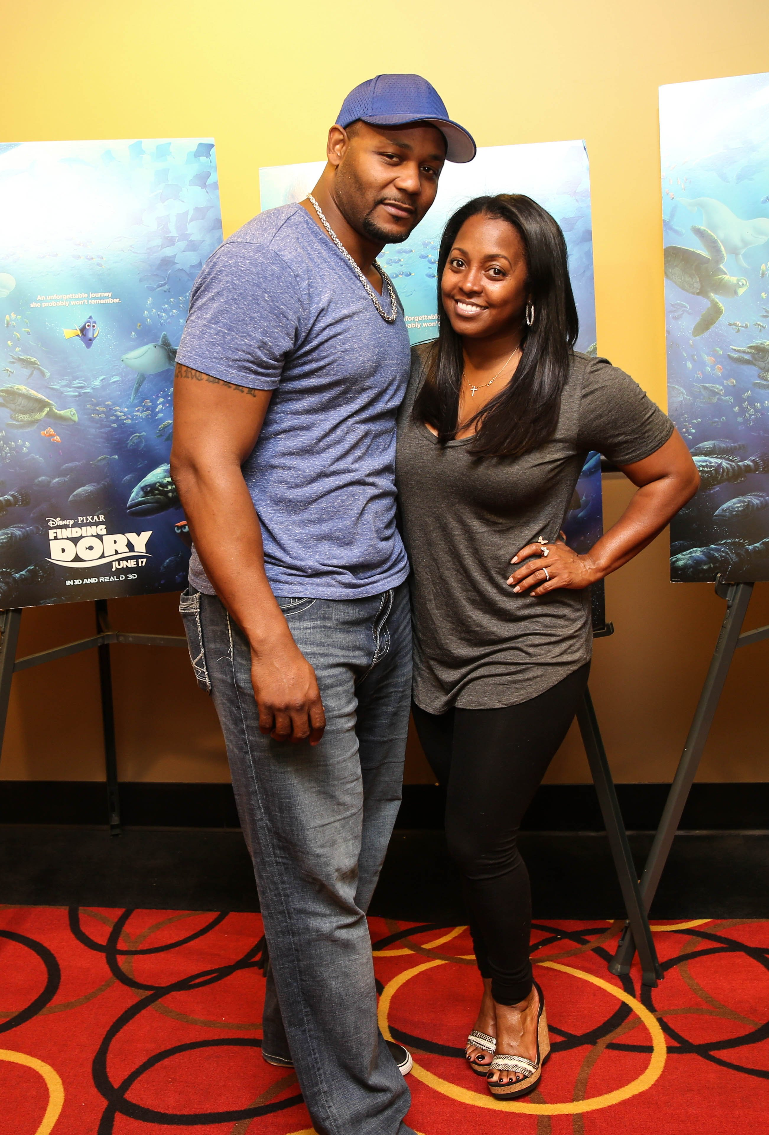 "Keshia Knight Pulliam and Ed Hartwell at an advanced screening of ""Finding Dory"" in 2016. 