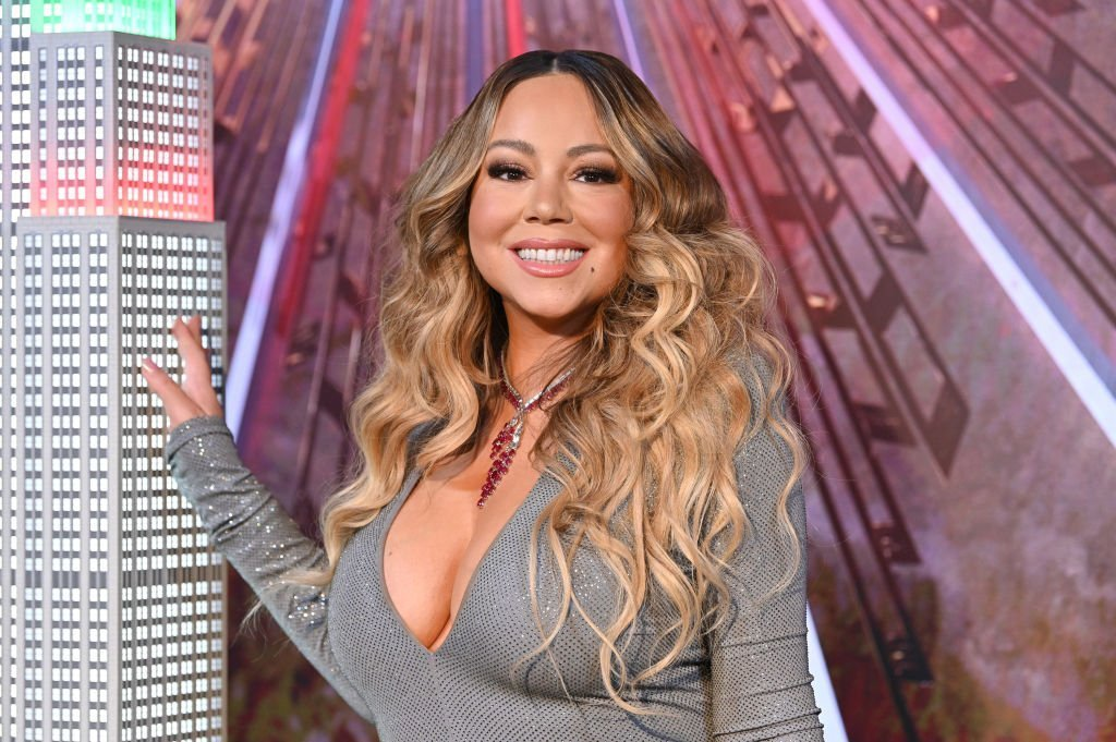 """Mariah Carey lights the Empire State Building in celebration of the 25th anniversary of """"All I Want For Christmas Is You"""" at the Empire State Building 