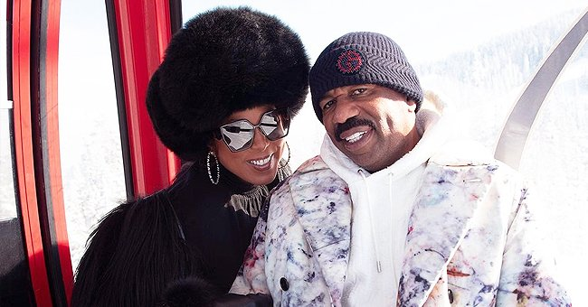Steve Harvey Gives Awesome Surprise to Wife Marjorie as He Unexpectedly Joins Her Amid Vacation