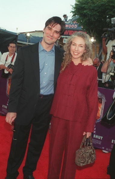 """Thomas Gibson and Christine Parker at the premiere of his film, """"Eyes Wide Shut,"""" in 1999 