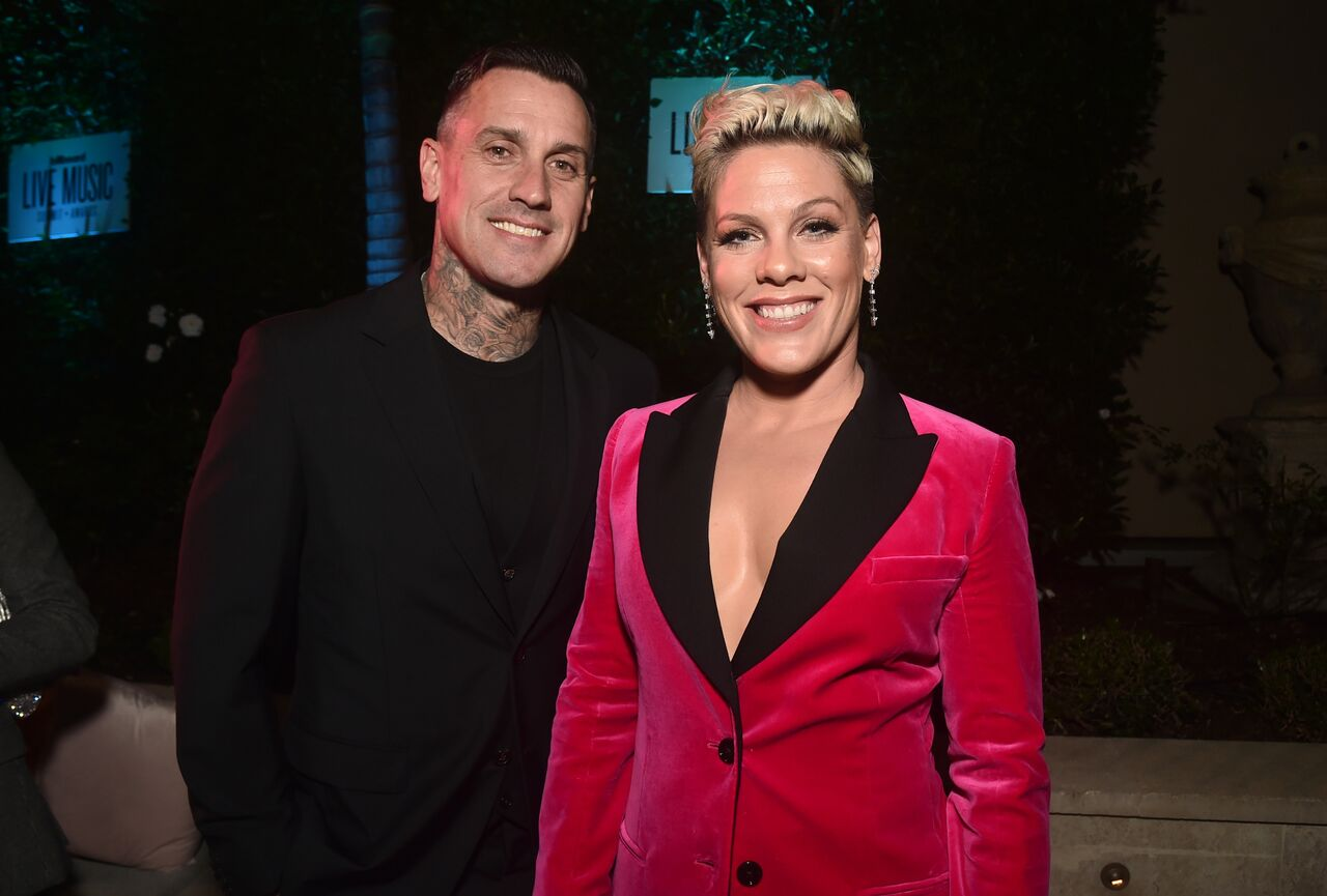 Carey Hart and Pink attend Billboard's 2019 LIve Music Summit and Awards Ceremony at the Montage Hotel on November 05, 2019 in Beverly Hills, California. | Source: Getty Images