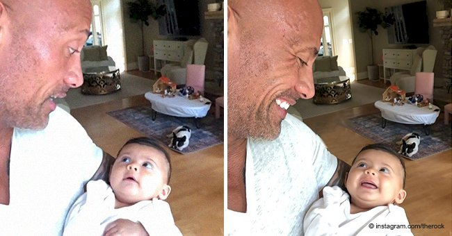 Dwayne 'The Rock' Johnson has the cutest conversation with his daughter during mealtime