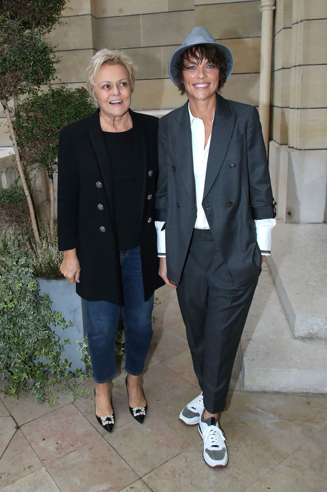 Muriel Robin et Anne Le Nen à la Maison de la Recherche le 25 octobre 2019 à Paris, France. | Photo : Getty Images
