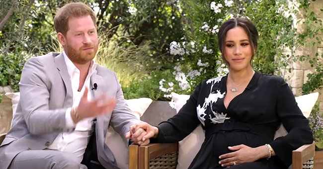 Pregnant Meghan Markle Flaunts Baby Bump in $4,700 Armani Dress during Oprah Tell-All Interview